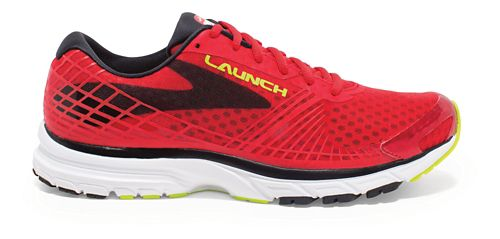 Mens Brooks Launch 3 Running Shoe - Red/Black 10.5