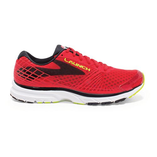 Mens Brooks Launch 3 Running Shoe - Red/Black 11.5