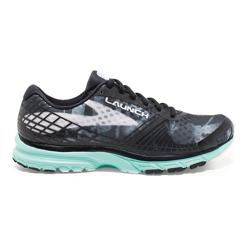 Womens Brooks Launch 3 Running Shoe - Black/Mint 10.5