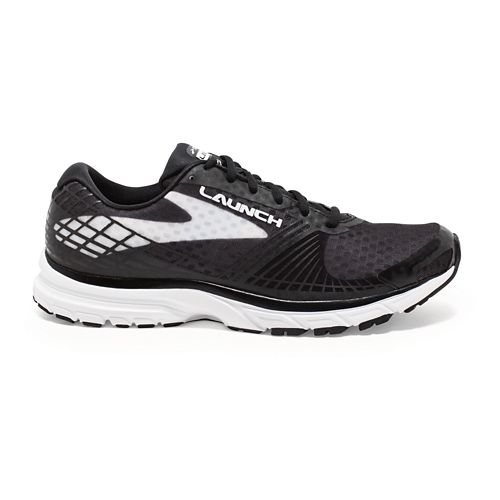 Womens Brooks Launch 3 Running Shoe - Black/White 10.5