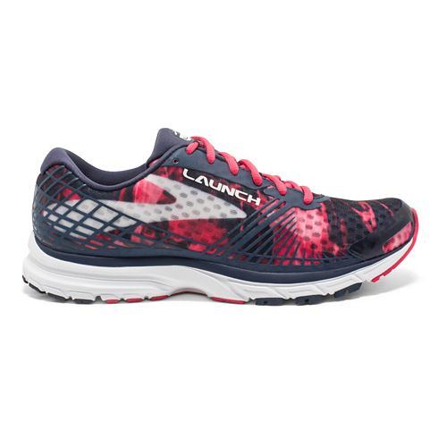Womens Brooks Launch 3 Running Shoe - Grey/Berry 7