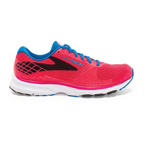 Womens Brooks Launch 3 Running Shoe - Pink/Blue 9