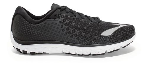 Mens Brooks PureFlow 5 Running Shoe - Black/White 8