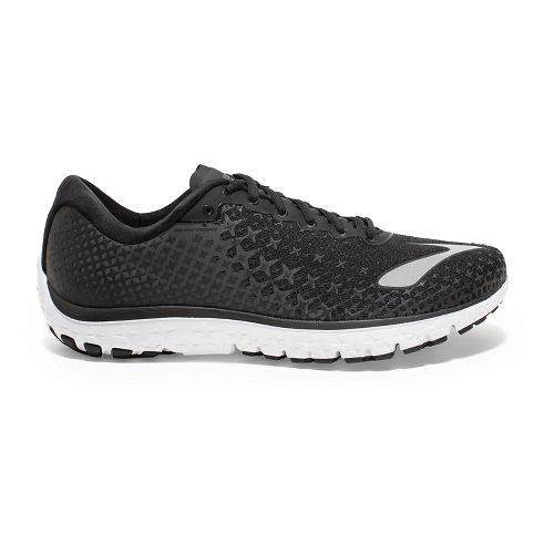 Mens Brooks PureFlow 5 Running Shoe - Black/White 12.5