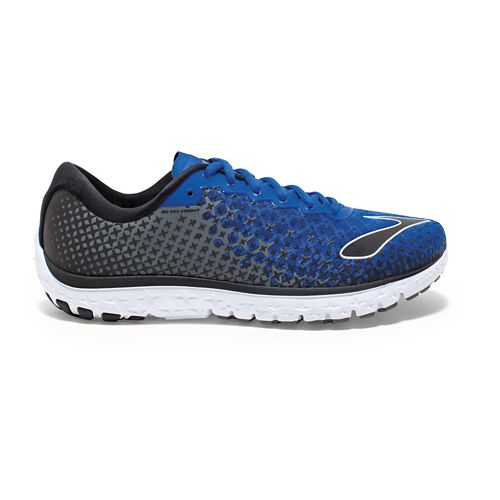 Mens Brooks PureFlow 5 Running Shoe - Blue/Castlerock 12.5