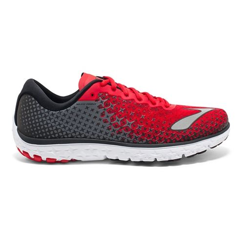Mens Brooks PureFlow 5 Running Shoe - Red/Black/Silver 10