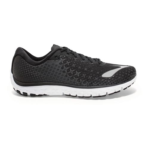 Womens Brooks PureFlow 5 Running Shoe - Black/Anthracite 6.5