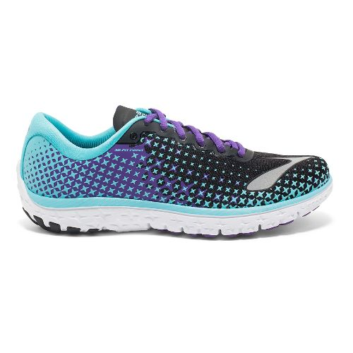 Womens Brooks PureFlow 5 Running Shoe - Blue/Black 9.5