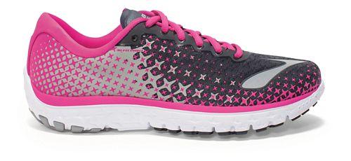 Womens Brooks PureFlow 5 Running Shoe - Anthracite/Pink 6.5