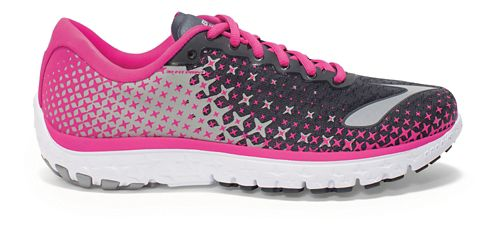 Womens Brooks PureFlow 5 Running Shoe - Anthracite/Pink 7.5
