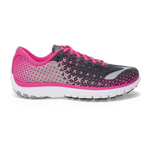 Womens Brooks PureFlow 5 Running Shoe - Anthracite/Pink 9.5