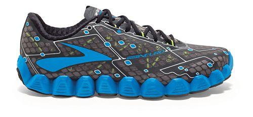 Mens Brooks Neuro Running Shoe - Charcoal/Blue 12.5