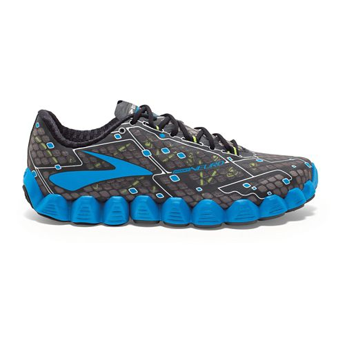 Mens Brooks Neuro Running Shoe - Charcoal/Blue 7.5