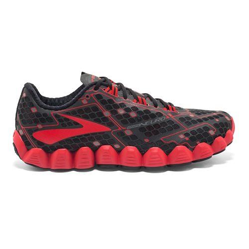 Mens Brooks Neuro Running Shoe - Black/Red 12.5