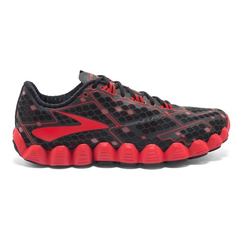 Mens Brooks Neuro Running Shoe - Black/Red 9.5
