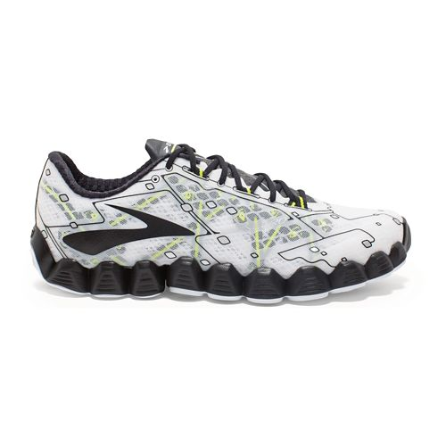 Mens Brooks Neuro Running Shoe - White/Black 11.5