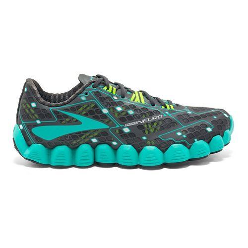 Womens Brooks Neuro Running Shoe - Anthracite/Green 9.5