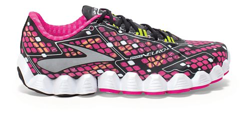 Womens Brooks Neuro Running Shoe - Pink/Black 11
