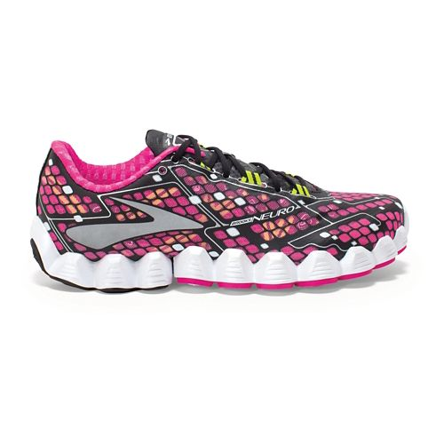 Womens Brooks Neuro Running Shoe - Pink/Black 11