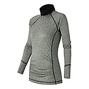 Womens New Balance Glow Pullover Long Sleeve No Zip Technical Tops