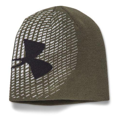 Under Armour Boys Billboard GITD Beanie Headwear - Greenhead/Black