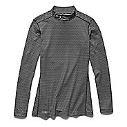 Womens Under Armour ColdGear Printed Mock Long Sleeve No Zip Technical Tops