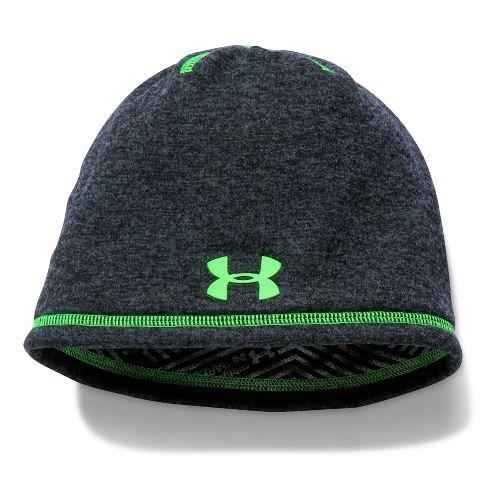 Under Armour Boys Elements 2.0 Beanie Headwear - Black/Lime
