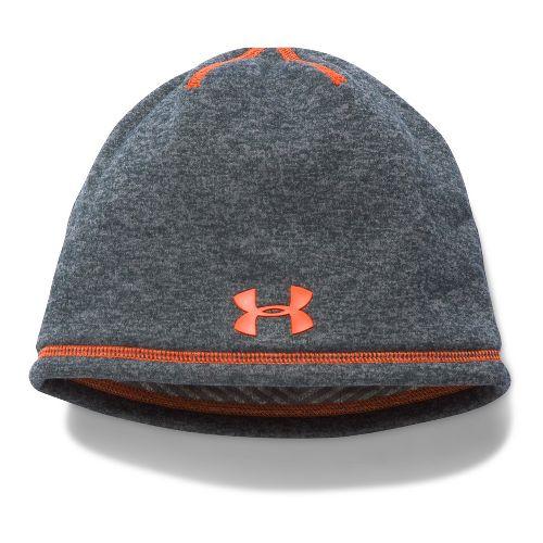 Under Armour Boys Elements 2.0 Beanie Headwear - Graphite/Orange
