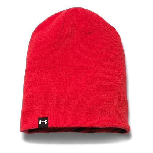 Kids Under Armour 4 in 1 Graphic Beanie Headwear - Risk Red/White