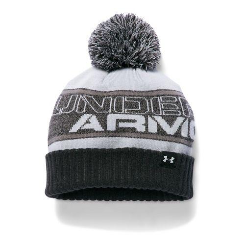 Under Armour Boys Pom Beanie Headwear - Black/Graphite