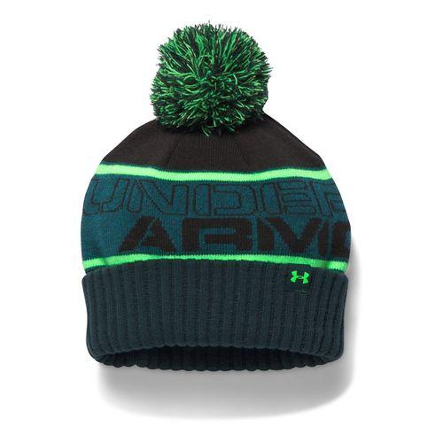 Under Armour Boys Pom Beanie Headwear - Nova Teal/Lime