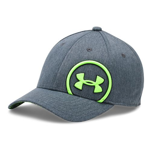 Under Armour Boys Billboard Cap Headwear - Grey/Fuel Green S/M