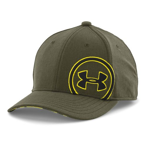 Under Armour Boys Billboard Cap Headwear - Greenhead/Black S/M