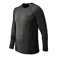 Mens New Balance M4M Seamless Long Sleeve No Zip Technical Tops