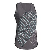 Womens Under Armour Run Graphic Tank Technical Tops