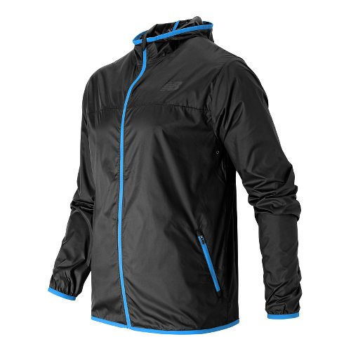 Mens New Balance Windcheater Running Jackets - Black S