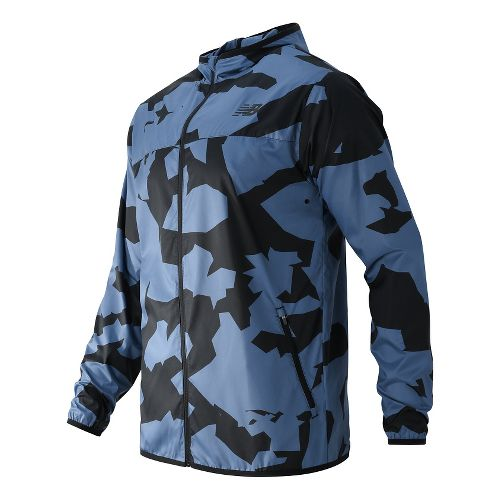Mens New Balance Windcheater Running Jackets - Crater Print XXL