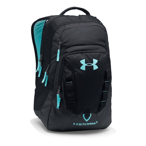 Under Armour Recruit Backpack Bags - Black/Turquoise