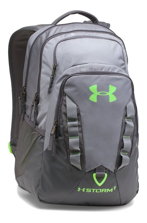 Under Armour Recruit Backpack Bags - Steel/Lime