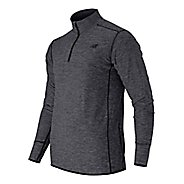 Mens New Balance Space Dye Quarter Zip Long Sleeve Technical Tops
