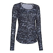 Womens Under Armour Fly by Allover Printed Mesh Long Sleeve No Zip Technical Tops