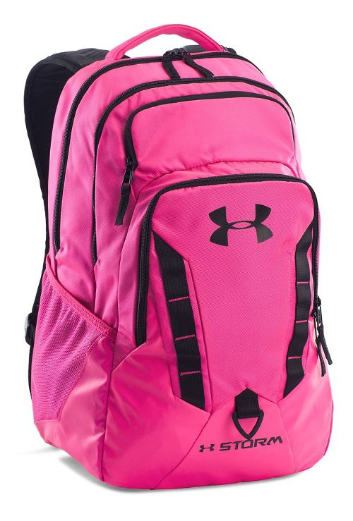 Womens Under Armour Recruit Backpack Bags - Rebel Pink/Black