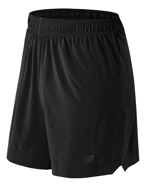 Mens New Balance 7'' Shift Unlined Shorts - Black S