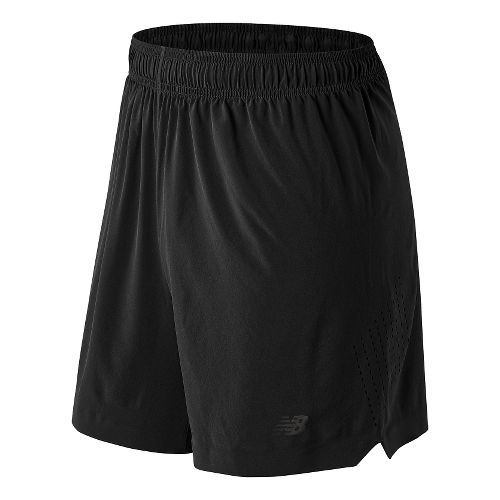 Mens New Balance 7'' Shift Unlined Shorts - Black M