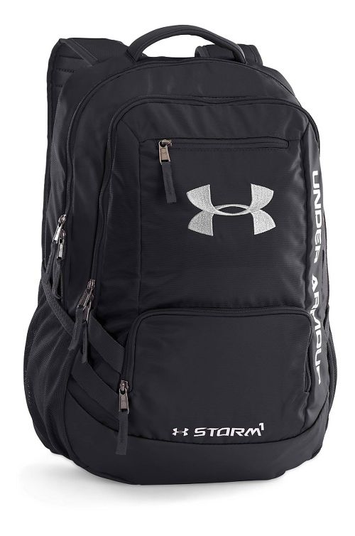 Under Armour Hustle Backpack II Bags - Black/Silver