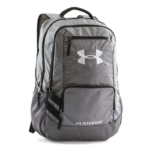 Under Armour Hustle Backpack II Bags - Graphite/Silver