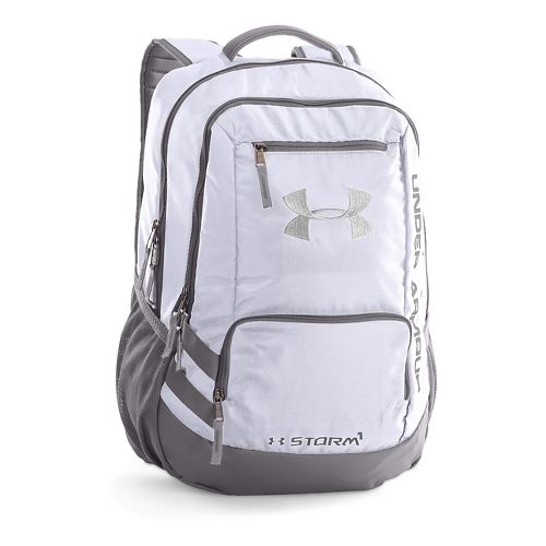 Under Armour Hustle Backpack II Bags - White/Silver