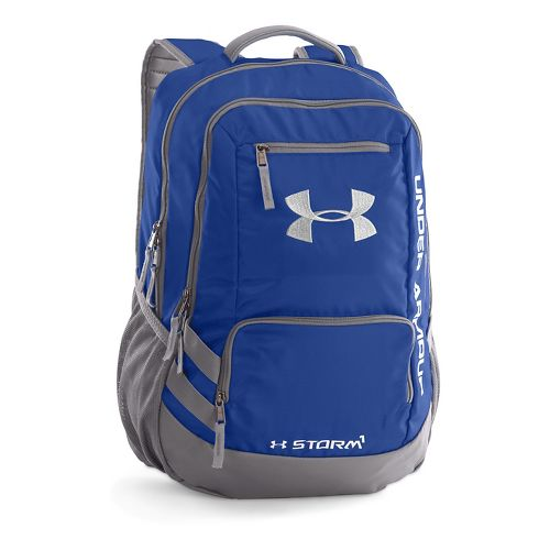 Under Armour Hustle Backpack II Bags - Royal/Silver