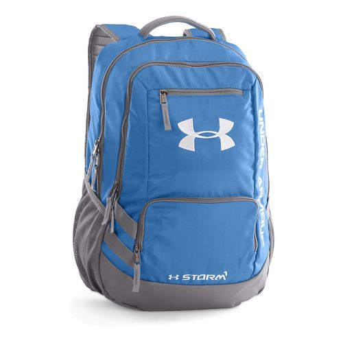 Under Armour Hustle Backpack II Bags - Blue/Silver