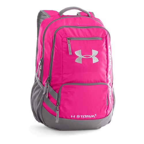 Under Armour Hustle Backpack II Bags - Tropic Pink/White